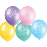 Baby Shower Coloured Balloons